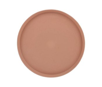 HK-Living Serving plate speckled blush ceramics