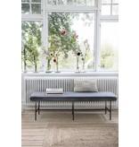 House Doctor Komma bänk metal grå 160x50x45,5cm