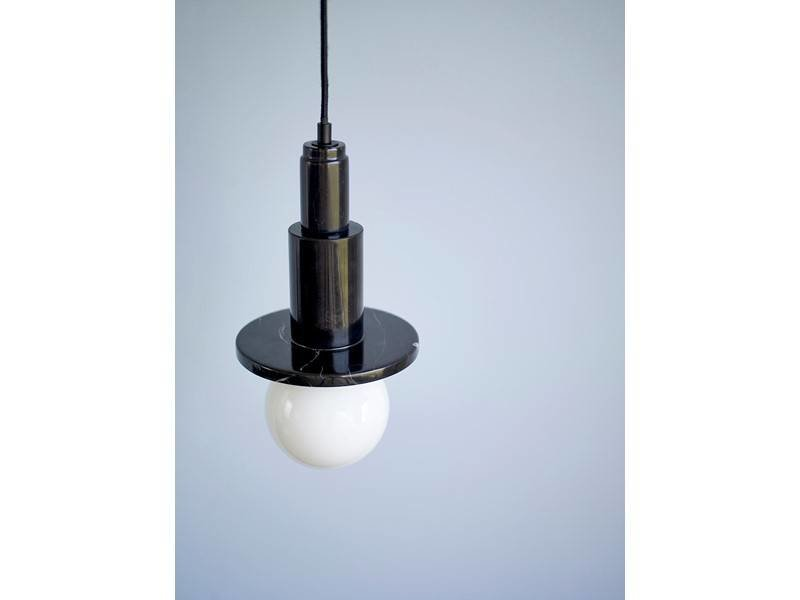 Hubsch Hänge ljus svart marmor