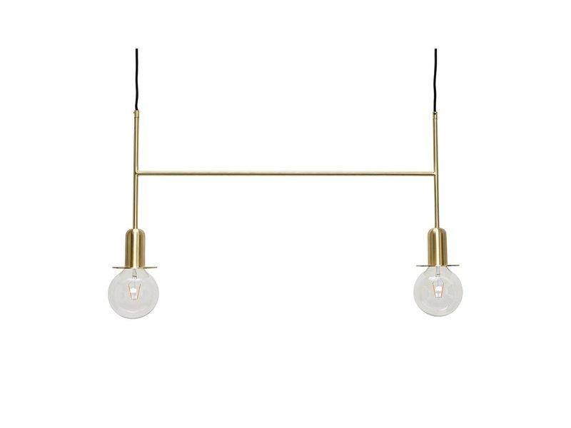 Hubsch Hanglamp messing met twee lichtbronnen