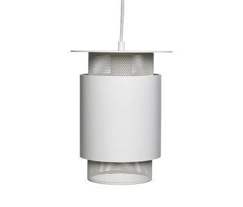 Hubsch Pendant light white metal mesh