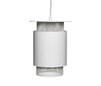 Hubsch Pendelleuchte aus weißem Metallgewebe