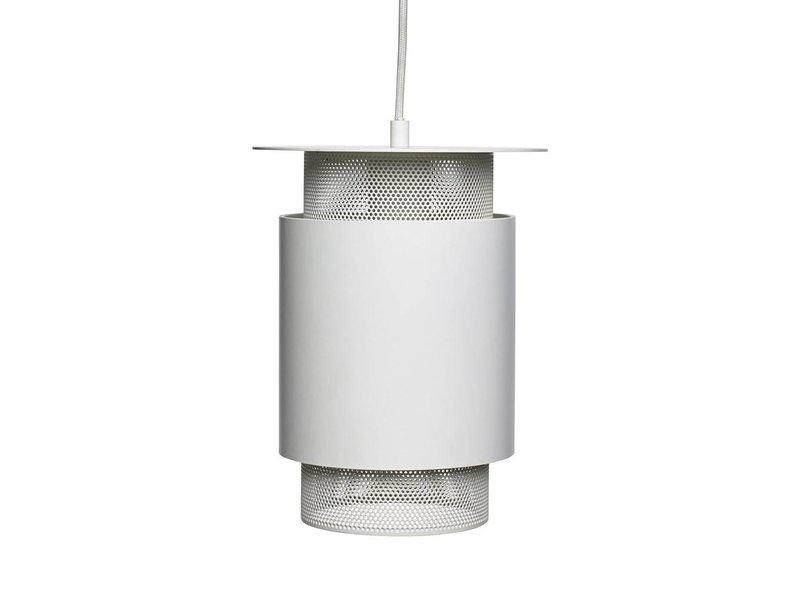 Hubsch Hanglamp wit metaal mesh