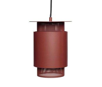 Hubsch Luminaire suspendu maille en métal rouge