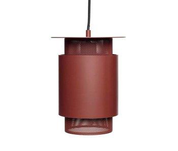 Hubsch Vedhæng lys rødt metalnet