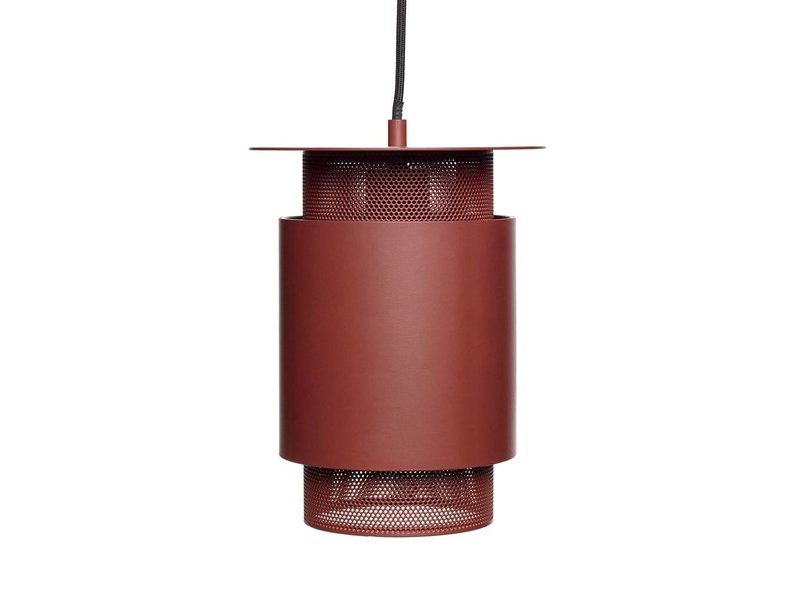 Hubsch Hanglamp rood metaal mesh