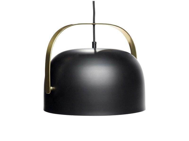 Hubsch Hanglamp zwart metaal messing