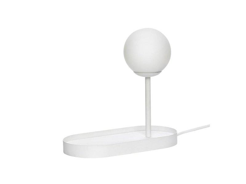 Hubsch Bordslampa vit metall med glödlampa