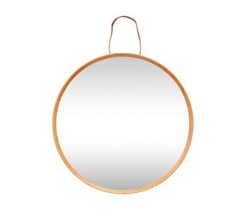 Hubsch Væg spejl med hængende løkke af læder