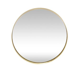 Hubsch Wall mirror brass