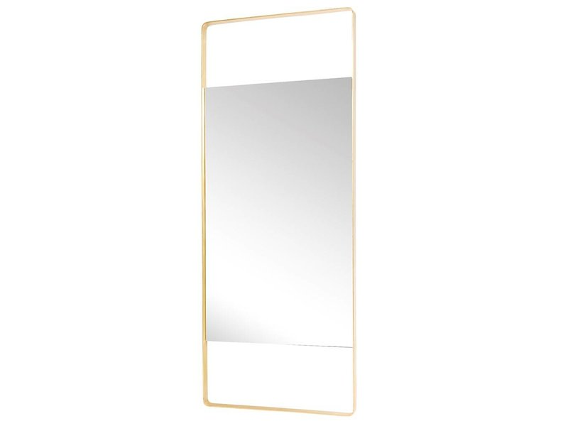Hubsch Standing mirror brass