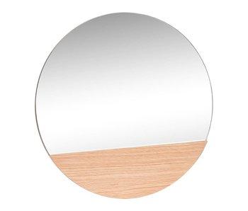Hubsch Vegg speil rundt eik