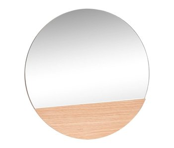 Hubsch Wall mirror around oak