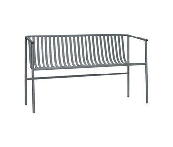 Hubsch Banco exterior de metal gris