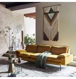 HK-Living Retro sofa 4-seater velvet ocher