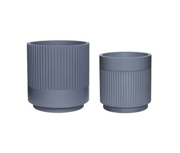 Hubsch Flowerpot set dark gray