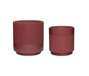Hubsch Flowerpot set bordeaux