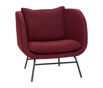 Hubsch Armchair burgundy red