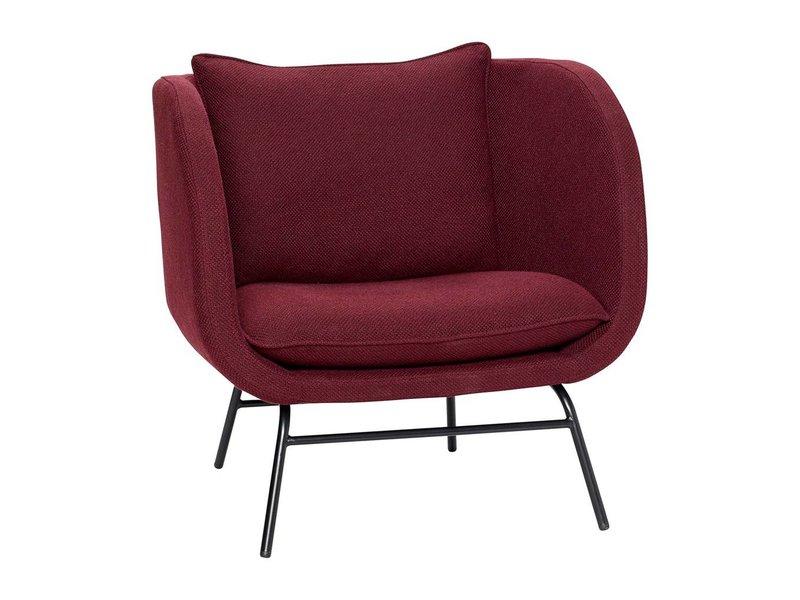 hubsch armchair burgundy red
