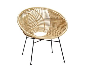 Hubsch Rattan lounge chair natural