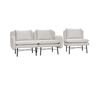Hubsch Modulær sofa lys grå