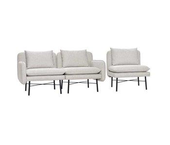 Hubsch Modulares Sofa hellgrau