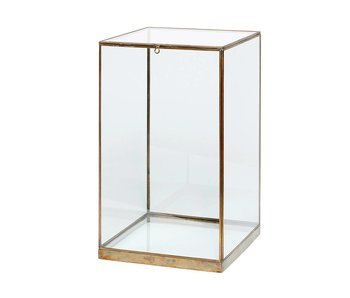 Hubsch Glass display brass