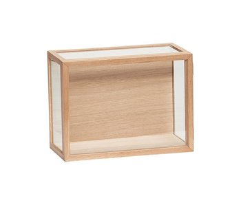 Hubsch Glass display oak