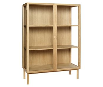 Hubsch Wooden display cabinet with doors