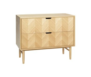 Hubsch Sideboard cupboard oak with drawers