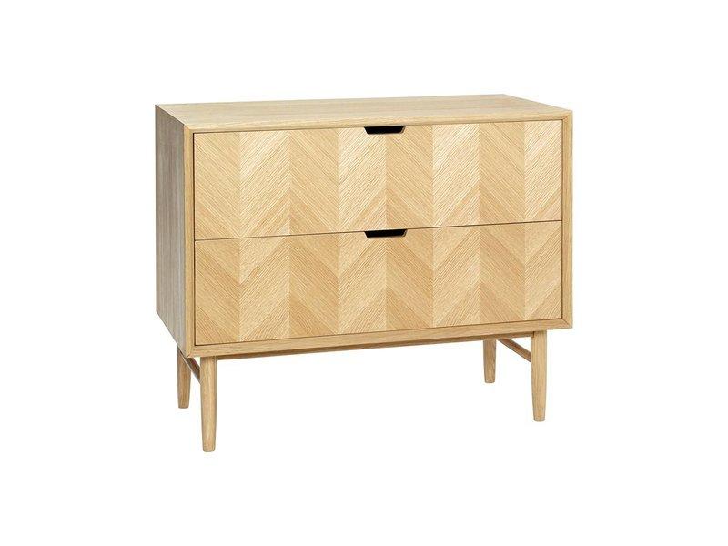 Hubsch Sideboard cupboard oak with drawers