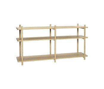 Hubsch Armario de almacenamiento de madera con 3 estantes
