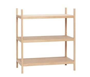 Hubsch Wooden storage cabinet with 3 shelves