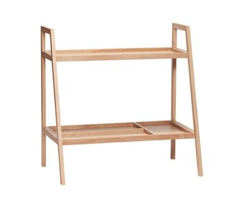 Hubsch Wooden storage cabinet with 2 shelves