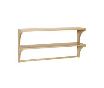 Hubsch Muebles de pared de roble con 2 estantes.