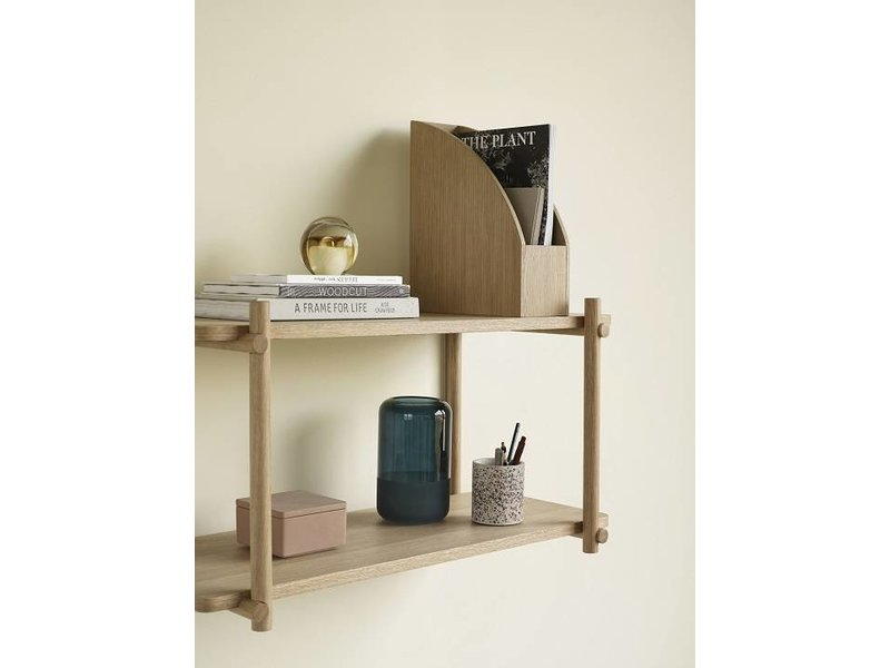 Hubsch Wall furniture oak with 2 shelves