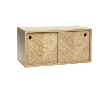 Hubsch Wall furniture oak with doors