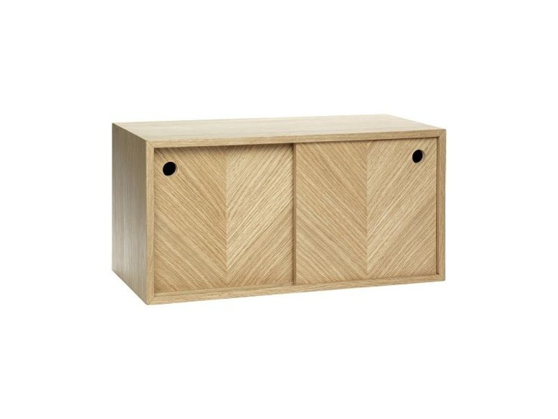 Hubsch Wall furniture oak with doors