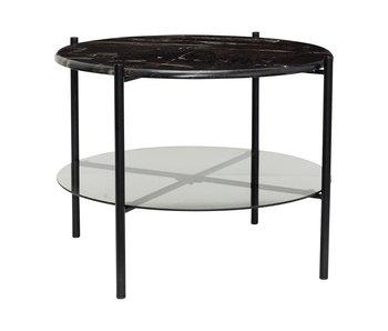 Hubsch Kaffebord svart marmor