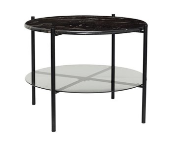 Hubsch Sofabord svart marmor