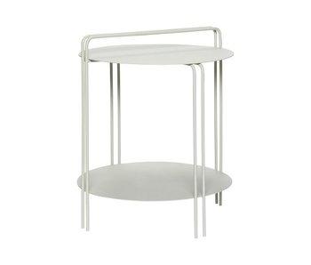 Hubsch Tavolino grigio metallo