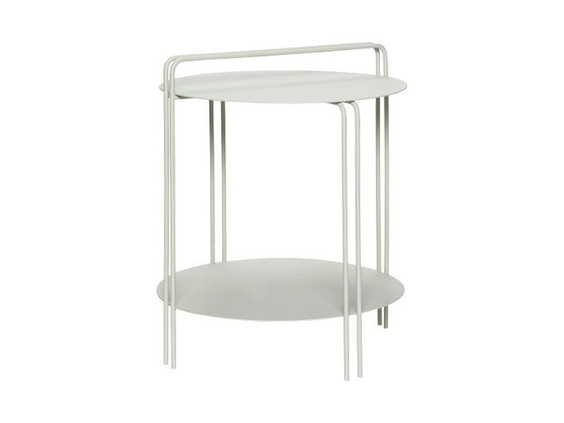 Hubsch Side table gray metal