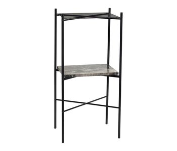 Hubsch Side table gray metal - Copy