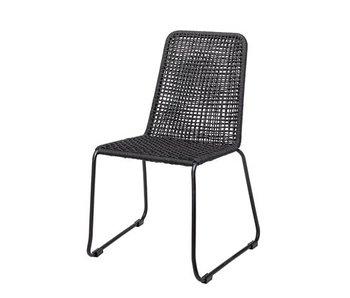 Bloomingville Chaise Mundo en métal noir et polyester