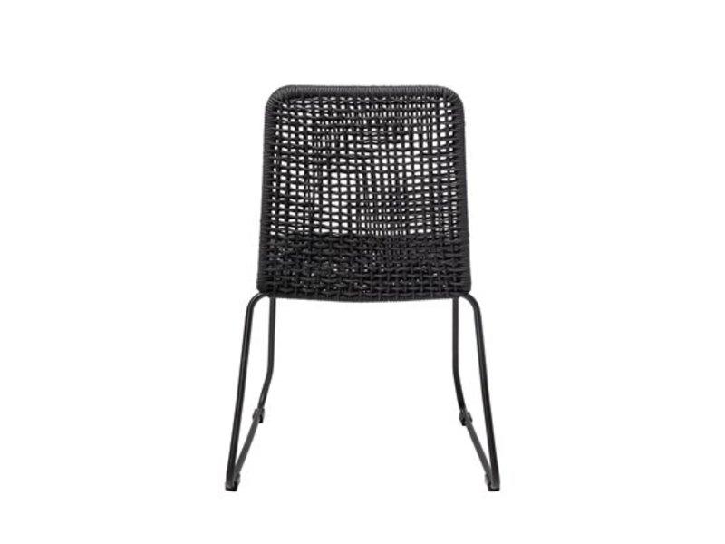Bloomingville Mundo Stuhl schwarz Metall Polyester