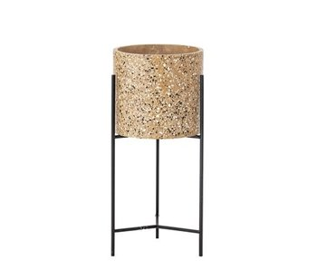 Bloomingville Flower pot brown concrete