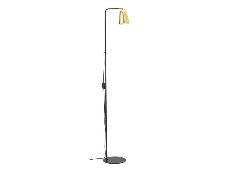 Bloomingville Stehlampe aus schwarzem Metall mit Gold