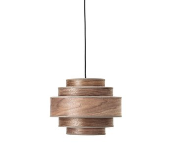 Bloomingville Hanging lamp brown walnut wood