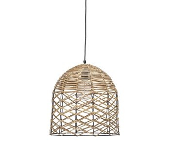 Bloomingville Lampe suspendue en rotin naturel