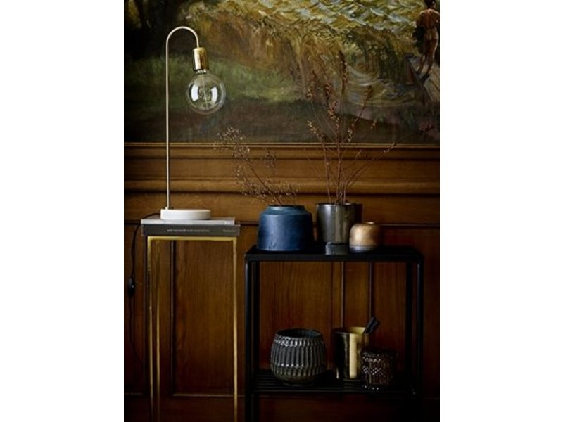 Tavolo In Marmo Bianco.Bloomingville Table Lamp White Marble With Brass Living And Co